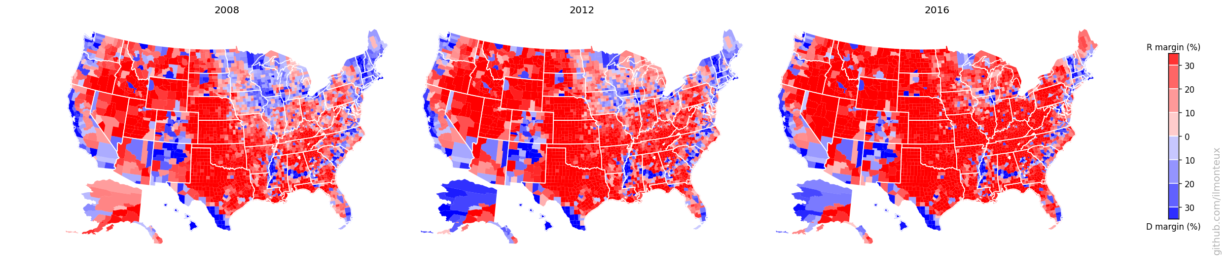Cartogramming US elections - Excursions in data